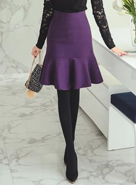 Haley Mermaid wool skirt
