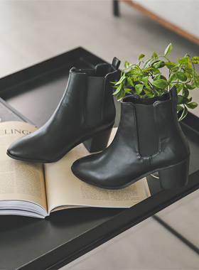 simple Black Banding Chelsea Boots