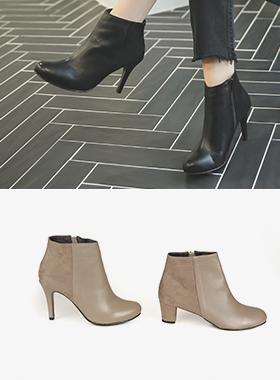 Cowhide Combi ankle boots (5cm / 9cm)