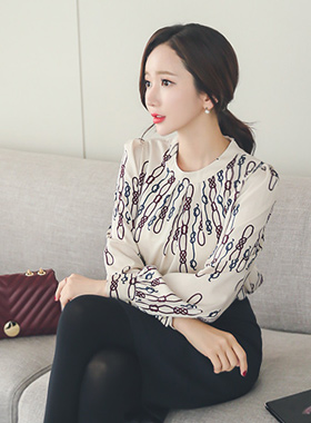 Rope Chain Silky Blouse