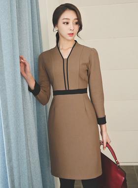 Bias line Formal Dress