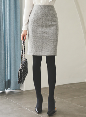 Cashmere Wool Skirt touch