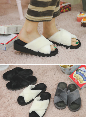 Soft Mink Fur Slippers