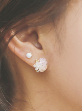 Handmade Mother of Pearl Flower earring