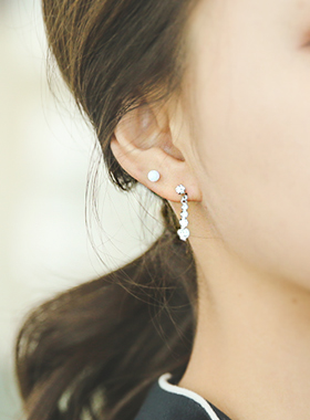 Oh Ross olive cubic earring
