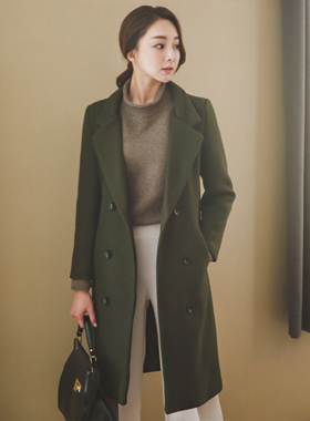 Open daily Double-button Coat
