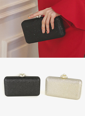 Flower Pearl Luxury cubic Clutch