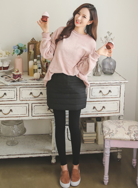 Padded skirt napping Leggings