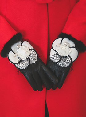 Sheepskin bumps all touch gloves