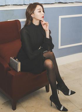 Luxury Chiffon Pleats color combination Dress