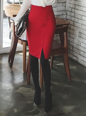 teuim simple Diagonal Skirt (winter)