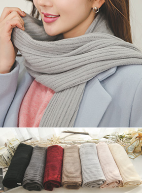 Soft Corrugated Knit muffler