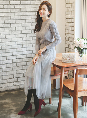 Romantic Knit & Shah Long one piece skirt
