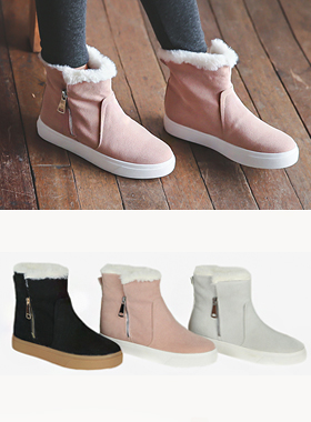 Soft fur Hightops Sneakers