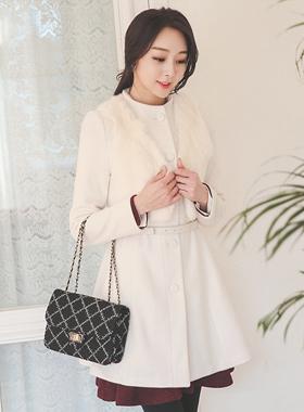 Best Romantic Aline Coat Fur