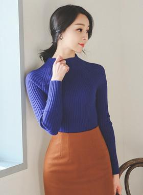 simple semi-polar Corrugated Knit
