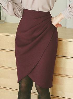 high waist draping Tulip Skirt