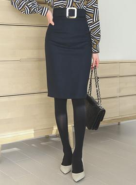 Square Belt high waist Skirt