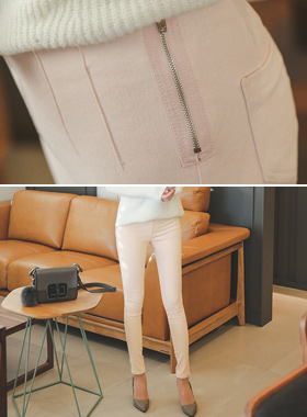 Winter side zipper Banding Skinny