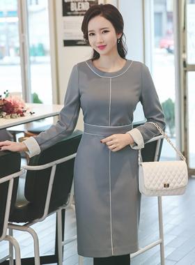 Piping line pastel Dress