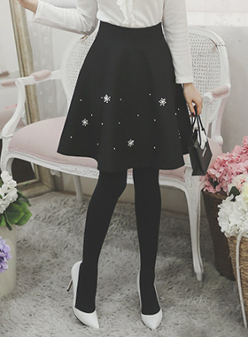 Jewelry cubic Flare Skirt