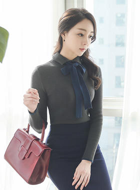 lucy ribbon tie Knit