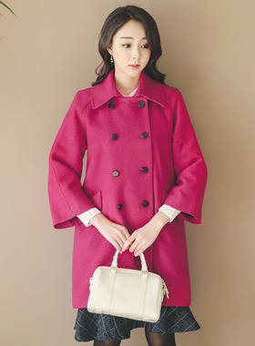 Becky Double-button Coat Rouge