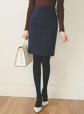 Basic twill wool woolen Skirt