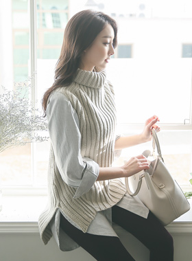 Basic teodeulnek Knit & Long-shirts SET
