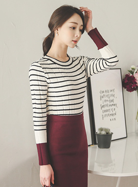 Retail color Stripe Knit