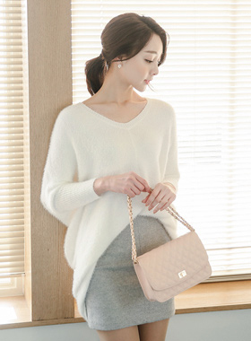 Marion four wings V-neck Long knit