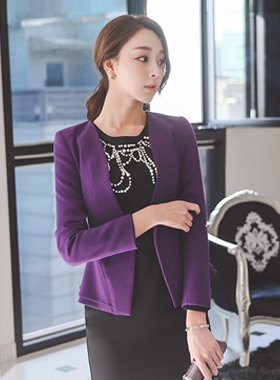 Lady Jacket Plum double page