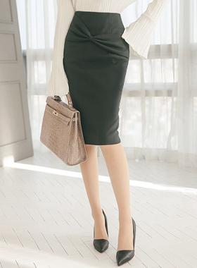 High knot bowknot Midi Skirt