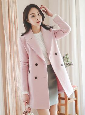 pastel stitch double Coat
