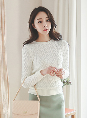 Basic diamond Cable Knit