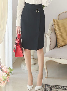 Crescent Formal Wrap Skirt (spring)