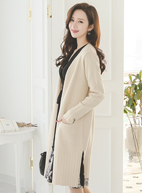 Cozy Long cardigan pocket