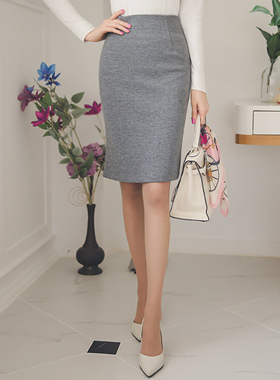 simple Span high waist Skirt (spring)