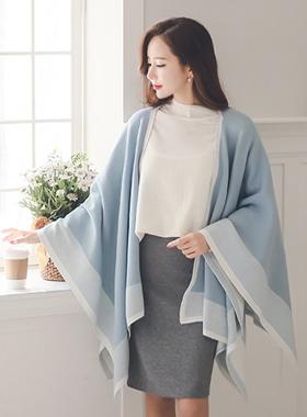 El poncho shawl cardigan