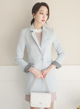 Soft pastel color combination Jacket