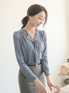 Daily open collar Blouse