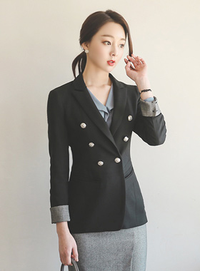 Button Jacket Classic roll-up scheme