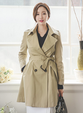 Basic cotton Harp Trench Coat