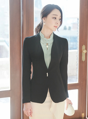 Draping triple pearl button Jacket