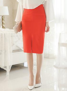 simple apteuim high waist Skirt (spring)