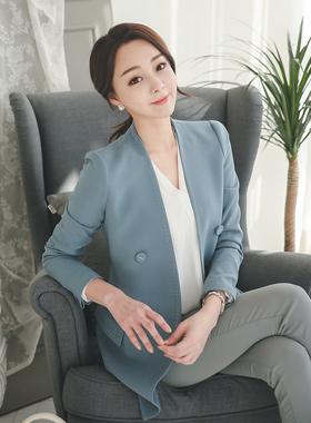 Modern stitch Double-button Jacket