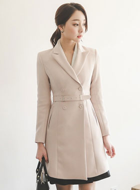 Poise Double-button Flare Jacket