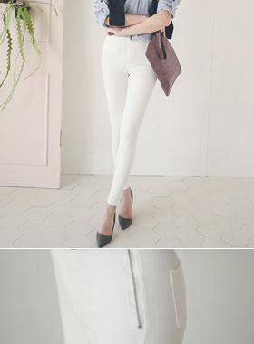 Side zip pockets piping Banding Skinny