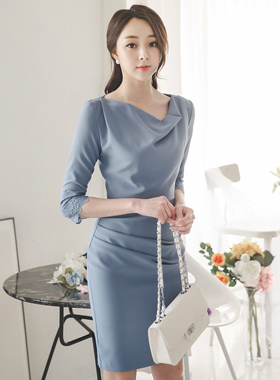 Race cuff drapes Dress (spring)