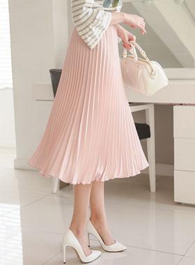 Spring Accordion Pleats Skirt